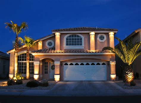 house lights house front lighting traditional landscape las vegas