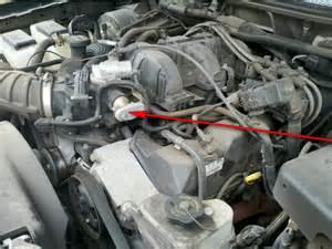 ford ranger egr valve location
