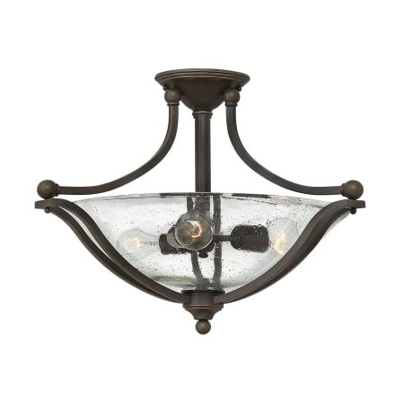 Cl On Light Fixture Hinkley Lighting 4669ob Cl Olde Bronze 3 Light Semi Flush Ceiling Fixture With Clear Seedy Glass