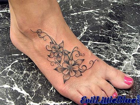 design flower tattoo foot fancy foot flowers flickr photo sharing