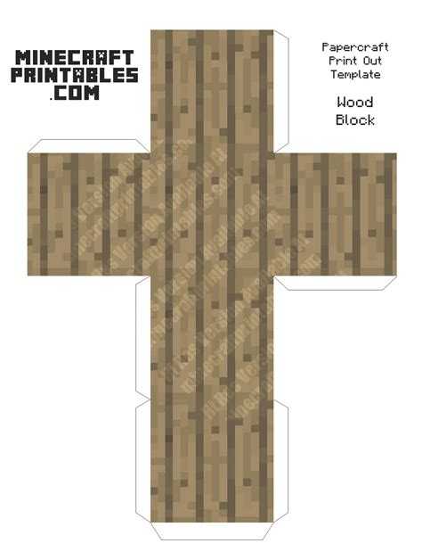 Minecraft Papercraft Wooden Planks - wood block minecraft wood block printable papercraft