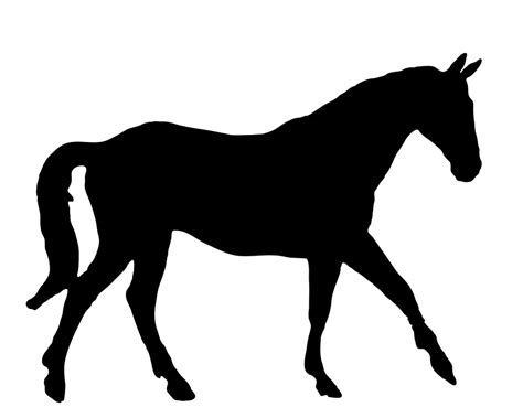clipart cavalli free illustration walking equine silhouette