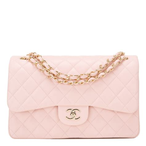 Chanel Light Pink Quilted Lambskin Jumbo
