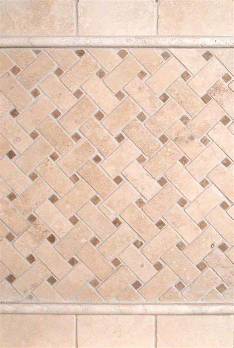 basket weave tile backsplash durango 2x4 tumbled and basket weave pattern