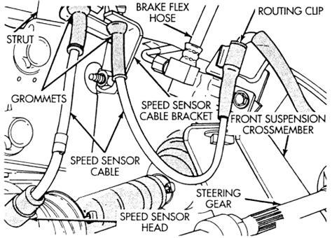 repair anti lock braking 1995 chrysler lebaron interior lighting 1995 chrysler lebaron front wheel speed sensor replacement repair guides anti lock brake
