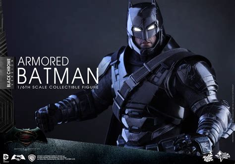 Cosbaby Armored Batman Matte Black From Hottoys batman v superman black chrome armored batman figure by toys the toyark news