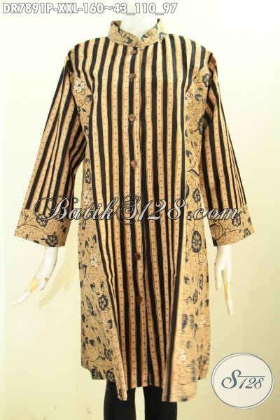 Pakaian Terusan Wanita Grey Print Dress Size L 416967 sedia batik dress wanita gemuk busana batik kerja nan