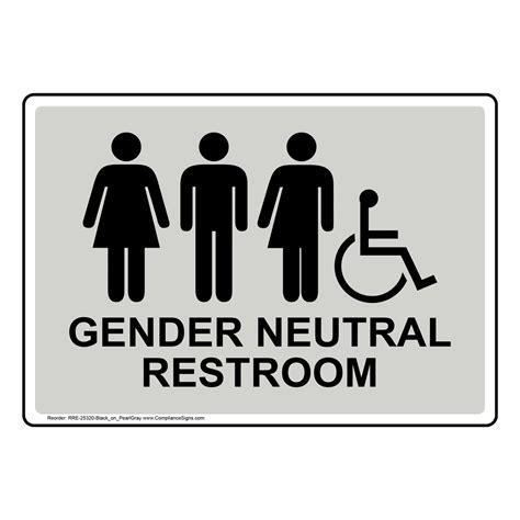transgender bathroom osha gender neutral restroom sign with symbol rre 25320 blkonprlgy restrooms