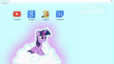 theme google chrome my little pony my little pony google chrome theme chrome themes themebeta