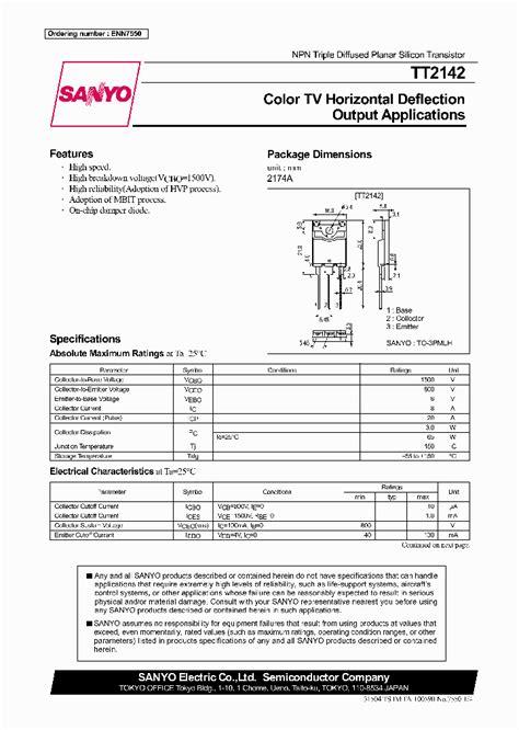 reemplazo transistor horizontal tt2140 tt2142 238552 pdf datasheet ic on line