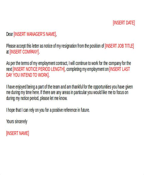 Professional Resignation Letter Uk by 42 Resignation Letter Template In Doc Free Premium Templates