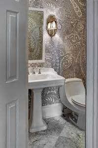 wallpaper designs for bathroom 20 sweet bathrooms with pedestal sinks messagenote