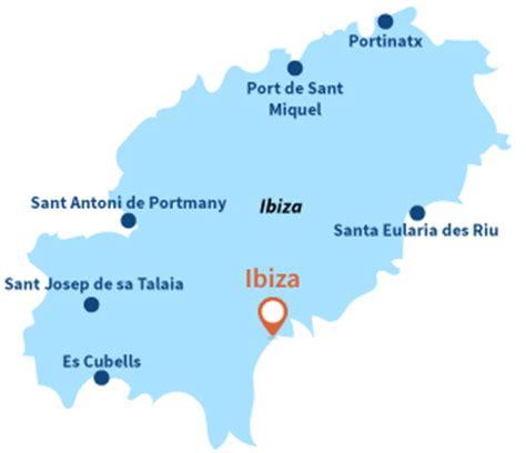 0004488962 carte touristique ibiza and plages ibiza station baln 233 aire ibiza eivissa ibiza