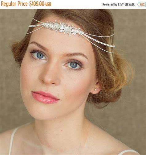 Headpiece Headband Chain bridal headpiece bridal headband bridal halo wedding