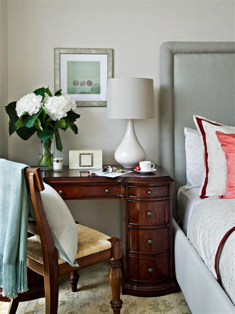 Small Bedroom Desk 10 Duty Nightstands Hgtv