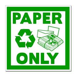 Recycling Essay by Ai Rdbin030 02 1 Color Paper Only Recycling Decal 4 Quot Square