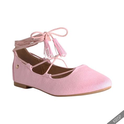 flats shoes womens lace up pointed ballerina shoes ankle wrap ballet