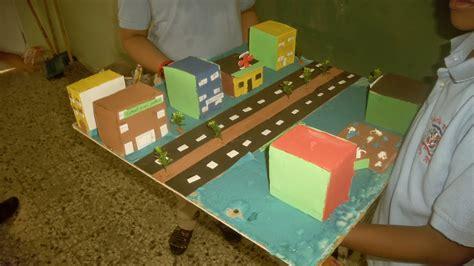 imagenes de maquetas matematicas maquetas de los ni 241 os de 4to a y b de edificios y calles