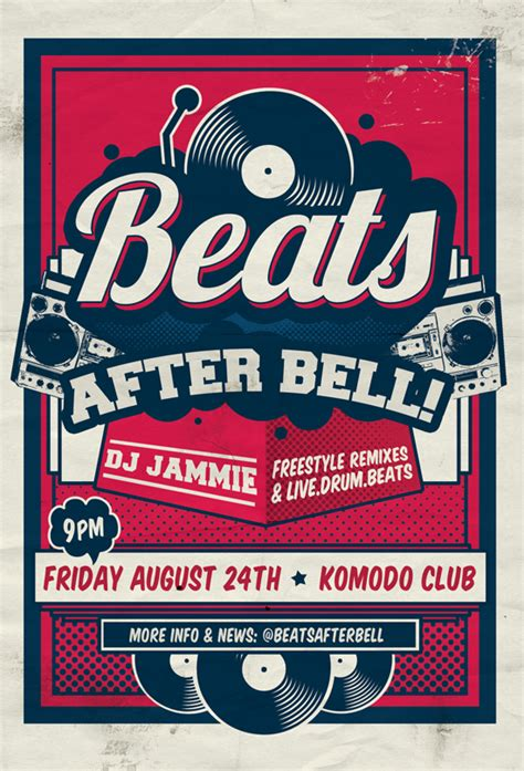 Beats After Bell Flyer Invitation By Hitomodachi On Deviantart Homecoming Flyer Template