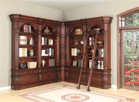 Corner Library Bookcase The Versailles Corner Library Bookcase Set With Ladder 15365 Office Furniture Home