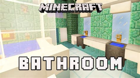 how to build a bathroom in minecraft minecraft tutorial how to make a modern bathroom design coral house part 11 youtube