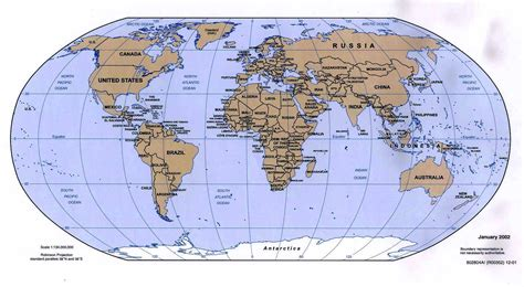 the world map political map of the world 2002 enlarged