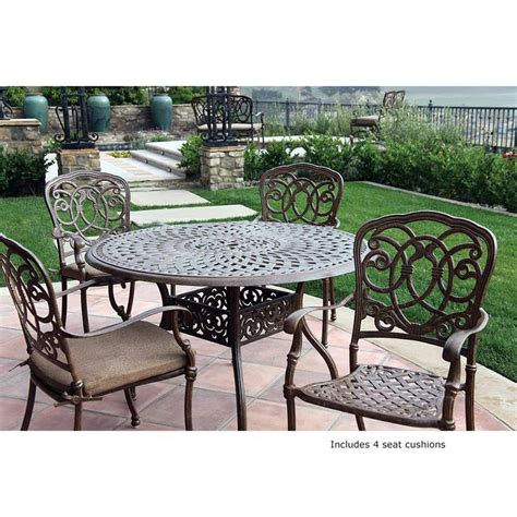 Shop Darlee Florence 5 Piece Mocha Aluminum Patio Dining