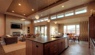 Open House Plans With Large Kitchens by Open Floor Plans