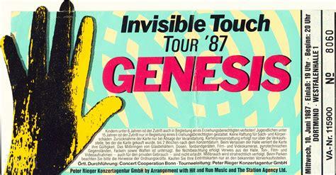 genesis invisible touch ticket genesis westfalenhalle 1 dortmund germany