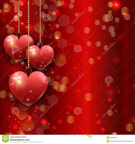 valentines de hanging hearts s day background royalty free