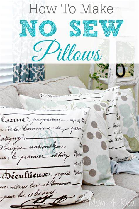 how to make no sew pillows 4 real