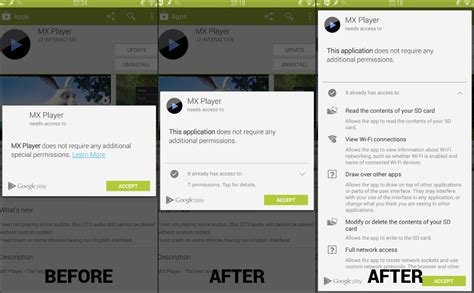 Play Store Xposed View Permissions In New Play Store App With