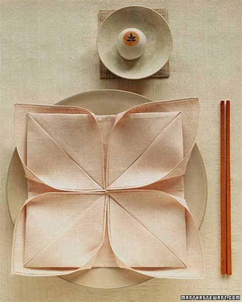Paper Napkin Folding Designs - napkin folding ideas martha stewart