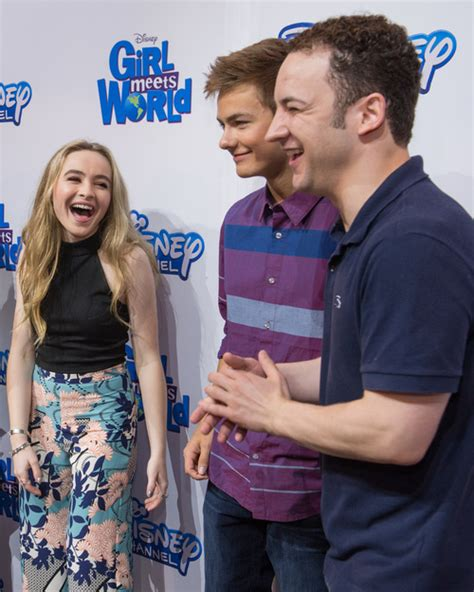 cast of girl meets world takes over times square good sabrina carpenter peyton meyer ben savage wdw daily news