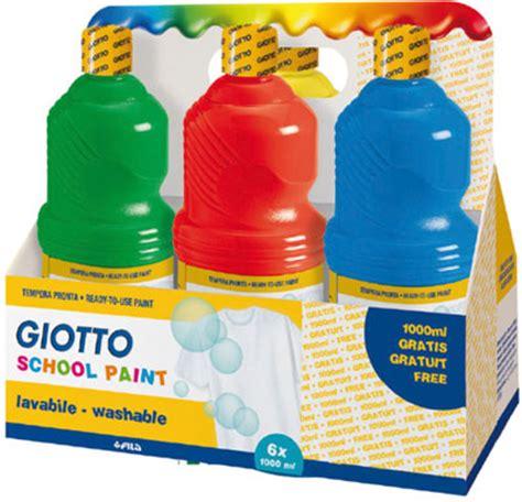 Giotto School Paint 1000 Ml Orange tempera pronta school paint giotto 6 flaconi fila 530900