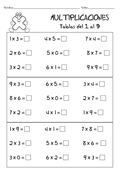 actividades primaria on pinterest 118 pins fichas de matematicas multiplicacion tablas de