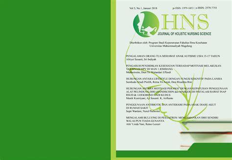 Masker Dan Handscoon journal of holistic nursing science