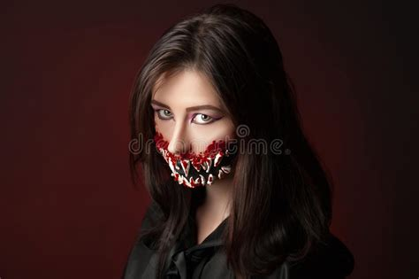 film build up in mouth teeth halloween stock photo image 61401463