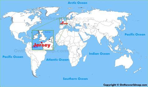jersey location   world map