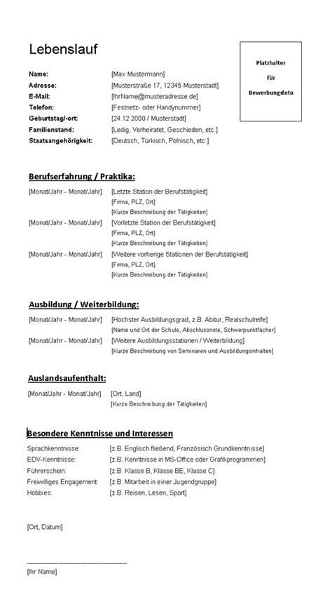 Lebenslauf Muster Jobwechsel Gratis Lebenslauf Vorlage F 252 R Die Bewerbung