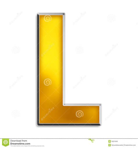 Gold L by Isolated Letter L In Shiny Gold Royalty Free Stock Images