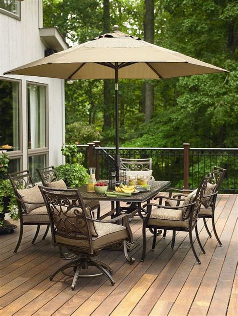 Outdoor Patio Sets With Awesome Umbrella Above Table And Outdoor Patio Furniture Sets
