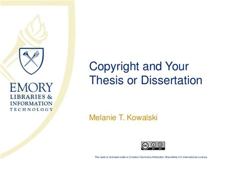 your dissertation copyright your thesis or dissertation