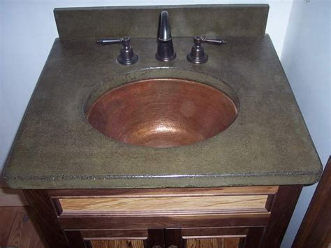 concrete countertop with sink concrete countertop with copper sink my style