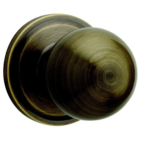 Weiser Door Knobs by Weiser Huntington Antique Brass Residential Door Knob