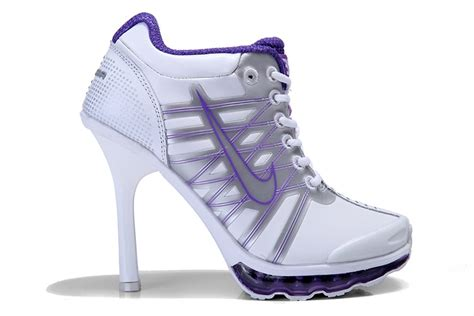 nike high heeled sneakers 2009 air max nike high heels womens white purple nike