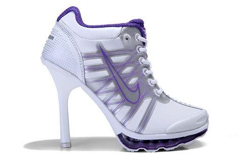 high heeled nikes 2009 air max nike high heels womens white purple nike