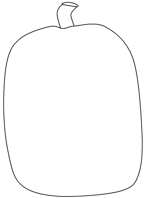 blank pumpkin template blank pumpkin template coloring home