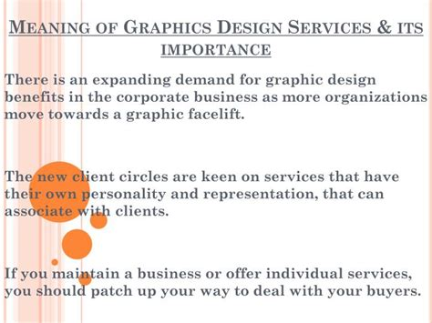 graphic design with meaning ppt meaning of graphics design services its importance