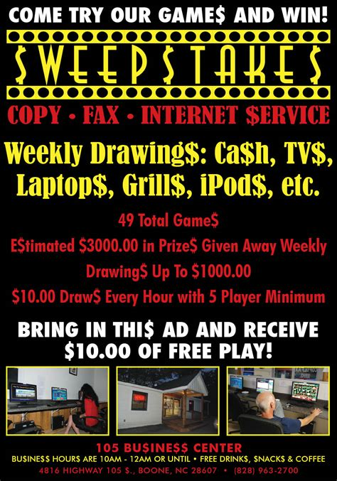 Sweepstakes Ad - sweepstakes ad high country press